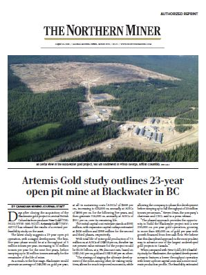 August 26, 2020 Canadian Mining Journal Article